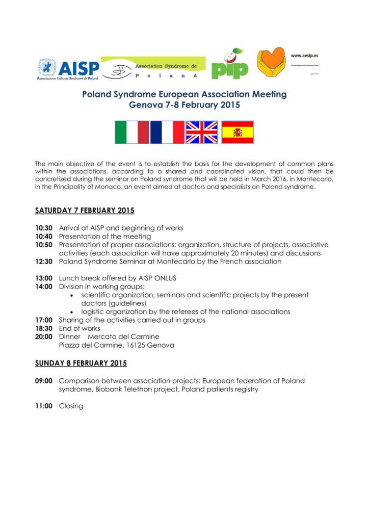 2015_Associazioni Europee sulla Sindrome di Poland si incontrano-1